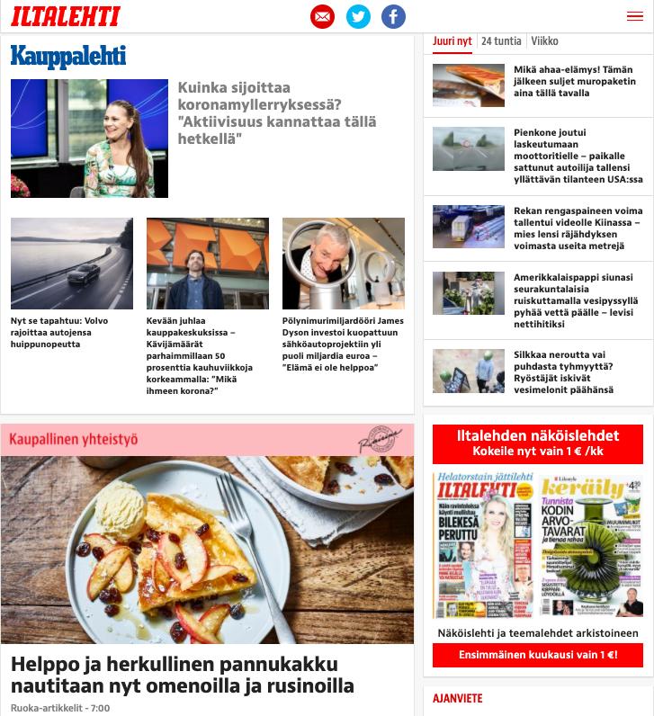 Natiivimainos esimerkki – Grapevine Media