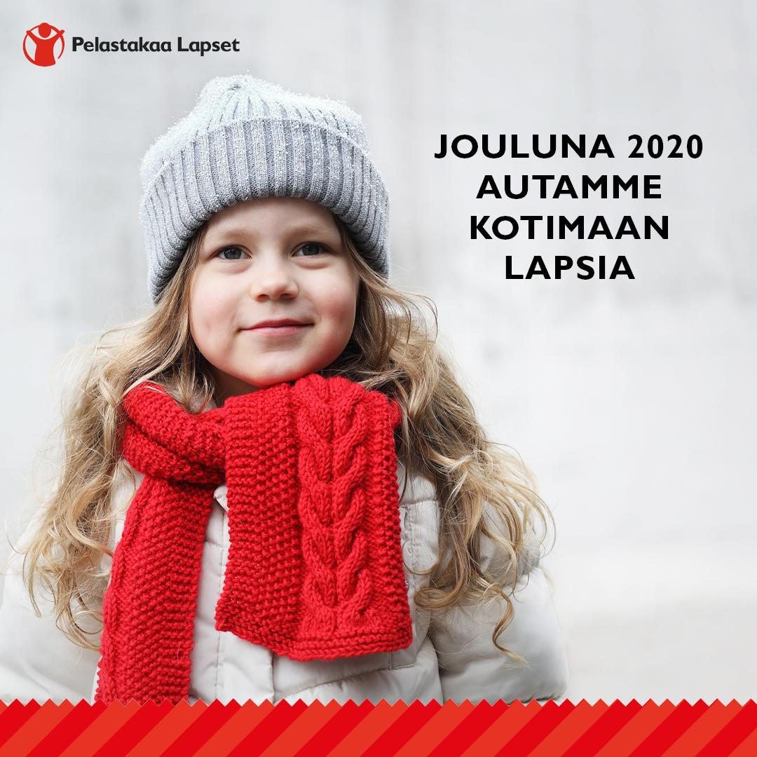 Pelastakaa Lapset keräystunnus. Jouluna 2020 Grapevine auttaa kotimaan lapsia.